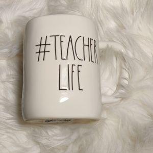 """NWT Rae Dunn """"#Techer Life"""" Mug"""
